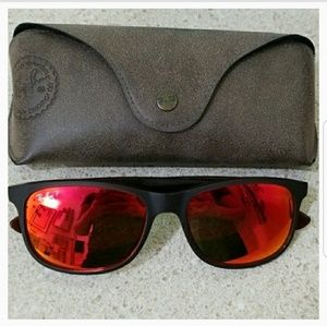 Custom Ray-Ban Andy polarized sunglasses with case